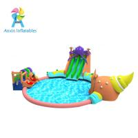 Wholesale 2017 new design giant outdoor inflatable water park, commercial inflatable water playground for sale from china suppliers