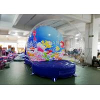 Wholesale Safety Inflatable Bubble Tent / Inflatable Snow Globe 0.65 Mm PVC Tarpaulin from china suppliers