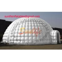 Wholesale hot sell inflatable air tight 0.6mm pvc tarpaulin igloo party outdoor tent from china suppliers
