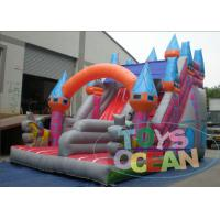 China Customizable PVC Inflatable Castle With Two Lane Dry Slide For Kids Outdoor Play on sale