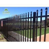 China 2.1×2.4m Spear Top Fencing / Garrison Security Fencing With Anti Scaling on sale