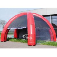 China 8 mts dia. 5 legs outdoor movable inflatable camping tent with 4 transparent doors connected by velcro on sale