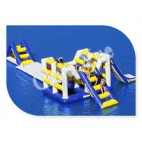 Wholesale Hot! ! 0.9mm PVC Inflatable Aqua Slide, Inflatable Floating Water Slide for Lake from china suppliers