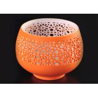Wholesale hollow bowl design ceramic porcelain candle vessels candle container from china suppliers