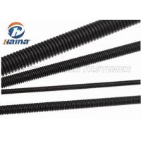 China Black Finished All Threaded Bar , Grade 5 Grade 8 Fully Black Threaded Rod on sale
