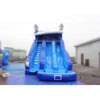 Wholesale Blue Toddler Inflatable Water Slides Moonwalk Bouncy Water Slide Games from china suppliers