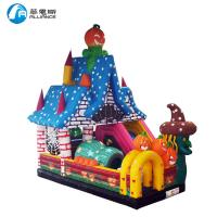 Wholesale Commercial PVC Tarpaulin Inflatable Halloween Bouncer with Slide for Kids from china suppliers