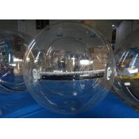 Quality Outdoor 0.8mm PVC Clear Inflatable Water Walking Ball Giant Roller Ball Playing On Amusement Park for sale