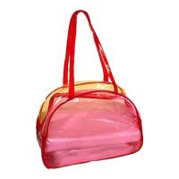 Wholesale 0.30MM Clear PVC Bags , Flocking Makeup Bag For Travel / Home from china suppliers