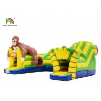 Wholesale 21ft Outdoor PVC Monkey Theme Inflatable Obstacle Course Rental For Events from china suppliers