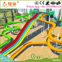 Wholesale Guangzhou cheap prices commercial adults fiberglass big water park slides for sale from china suppliers