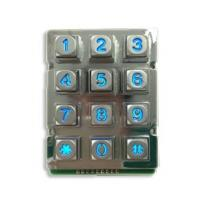 Wholesale Zinc Alloy Rugged Blue Backlight  12 keys Keypad with 9 Pin from china suppliers