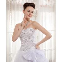 Quality Heart Shaped Bra Ladies Wedding Dresses , Rhinestone Beaded cathedral train for sale