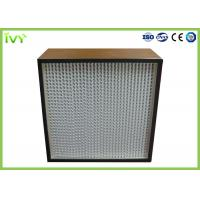 Buy cheap H13 H14 Deep Pleated Hepa Filter With Corrugated Aluminum Foil Separator from wholesalers