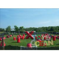 Wholesale Red Blue Outdoor Inflatable Paintball Bunkers Movable Barrier Shooting Gun from china suppliers