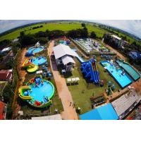 China Mobile Thailand Project Inflatable Water Parks With Slide Puncture-proof on sale