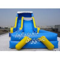Wholesale Children Big Pool Inflatable Water Slide Blue With Puncture-Proof PVC CE from china suppliers