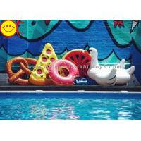 China Pink / Brown Adult PVC Inflatable Swimming Ring For Donut Float Summer Water Sport on sale