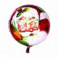 Wholesale 18-inch Round Christmas Balloon, Made of PA and PE and AL, Customized Orders are Accepted from china suppliers