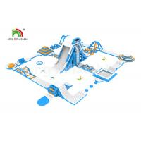 China Gaint Customized Outdoor 0.9mm PVC Inflatable Floating Water Park With Cliff on sale