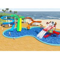 Wholesale Swimming Pool Water Park Design / Constrction , Holiday Resort Water Slide Design from china suppliers