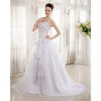 Wholesale Heart Shaped Bra Ladies Wedding Dresses , Rhinestone Beaded cathedral train wedding Gowns from china suppliers