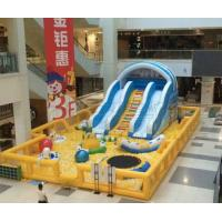 China Commercial indoor Shopping malls used new design inflatable Ball pit with slide for kids on sale