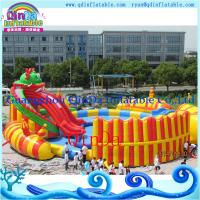 China Kids Inflatable Water Slide with a Pool Protable Water Park. Water Pool Slide on sale