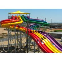 Wholesale Colorful High Speed Slide Water Play Equipment 5 - 13 M Platform Height 0.85M Width from china suppliers