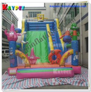 Wholesale Sponge Bob Slide Inflatable cartoon characters slide Inflatable slide GameKSL078 from china suppliers