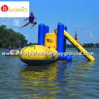 Wholesale Outdoor Large Inflatable Water Sports With Climb , Slide And Launch Bag from china suppliers