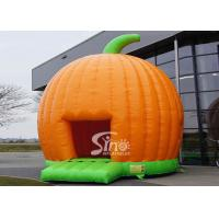 Wholesale Halloween Inflatables Giant Pumpkin Kids Bounce House Double for outdoor party from china suppliers