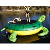 Wholesale Events Green Outdoor Inflatable Water Trampoline Logo Printing from china suppliers