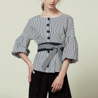 Wholesale Fashion Womans Big Sleeve Blouse With Stripe from china suppliers