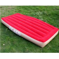 Wholesale Non-Phthalate PVC Inflatable Air Beds Red Portable For One Person from china suppliers
