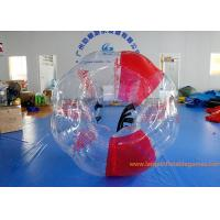 China Soft Handle Red Inflatable Bubble Ball , Inflatable Bumper Balls For Adults on sale