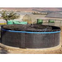 Quality 20000L PVC Fish Farming Tank with Lid, Flexible Tarpaulin Wire Mesh Tank For Agricultural for sale