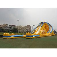 Wholesale 12m high 3 lanes giant inflatable hippo water slide for adults and kids outdoor inflatable water park fun from china suppliers
