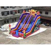 China Professional Double Lanes Bear Kid Inflatable Slide 12*8*8m Or Customized on sale