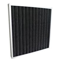 Wholesale Activated Carbon Pleated Panel Air Purifier Filter Replacement With Aluminum Frame Black Color from china suppliers