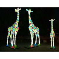 Wholesale Economic Fiberglass Animal Sculptures Giraffe Shape For Zoo Decoration from china suppliers