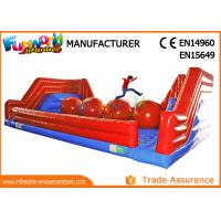 Buy cheap Interactive 0.55mm PVC Tarpaulin Inflatable Sports Games / Inflatable Wipeout from wholesalers