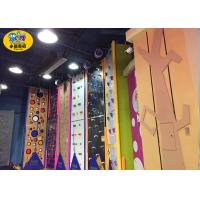 Quality Commercial Indoor Kids Rock Climbing Wall High Strength Steel Frame And Plate for sale