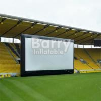 Wholesale Commercial Black Inflatable Movie Projector Screen For Outdoor Event from china suppliers