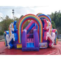 Wholesale Durable PVC Inflatable Unicorn Bouncy House For Birthday Party Quadruple Stitching from china suppliers