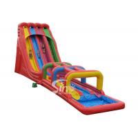 Wholesale 8m high rainbow triple lane giant inflatable water slide for adults outdoor use from china suppliers