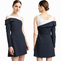 Wholesale New Design High Quality Mercer Tank Navy One Shoulder Blazer Classic Style Dress for Women from china suppliers