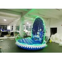 OEM Airblown Inflatable Snow Globe With Background Durable Serurity - Guarantee