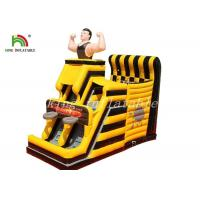 China Yellow / Black Inflatable Combo Sport Playground By PVC Tarpaulin For Kids on sale