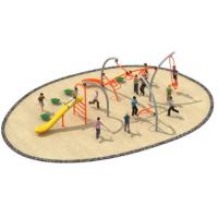830*580*250cm Simple Design Rope Climbing Structure Playground Environmental Protection